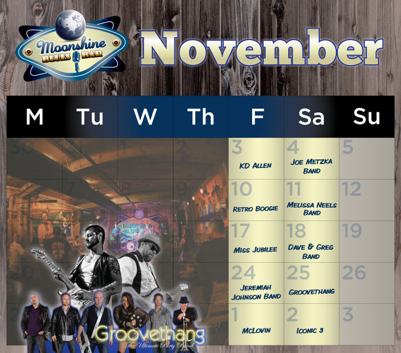 Moonshine Performance Calendar - November 2017