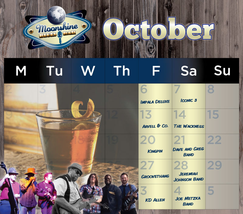 Moonshine Performance Calendar - October 2017