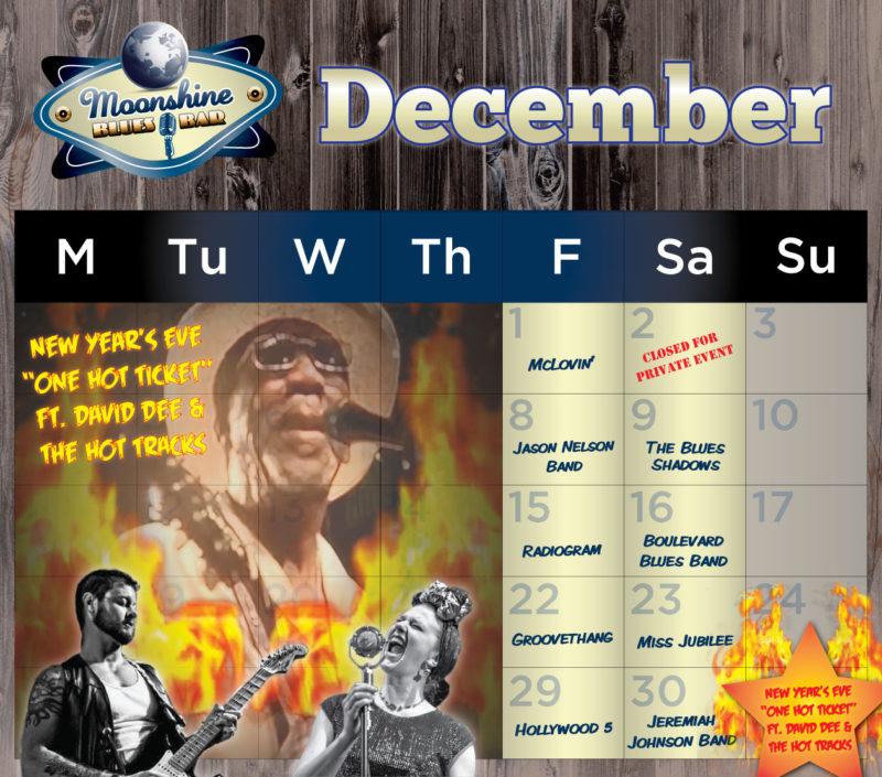 Moonshine Performance Calendar - December 2017
