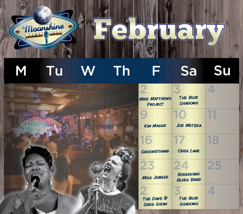 Moonshine Performance Calendar - February 2018
